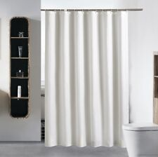 Polyester Waterproof Bathroom Solid White Shower Curtain 2m Long 1.8m Wide