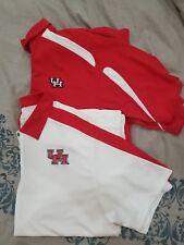 Lot 2 Nike UH University of Houston Mens Size XXL Polo Shirt Red White Golf 2XL