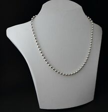 Kugelkette Perlenkette Collier 925 Sterling Silber Halskette massiv Ø 3 mm 55 cm
