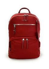 Tumi Hagen Backpack Voyageur Lightweight Laptop Bag Crimson Red Silver Hardware