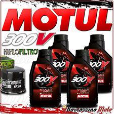 TAGLIANDO OLIO 4 L MOTUL 300 V 10W40 + FILTRO HIFLO TRIUMPH 675 Daytona 2015