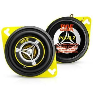 """Pair 3.5"""" inch 3 1/2"""" Car Audio 2-Way Stereo Sound Front Dash Speakers PLG3.2"""