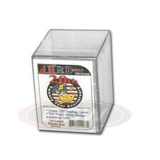 3 Pro-Mold PC100 - 2 Piece Snap Plastic Box Card Storage 100 Card Holder