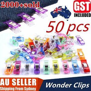 1-50Pcs Wonder Clips Crafts Fabric Quilting Clip Crochet Craft Plastic Clip DIY