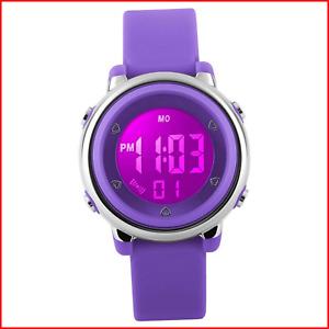 RSVOM Kids Digital Sports Watches - Girls 5 ATM Waterproof Sport Watch with Alar