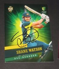 Shane Watson (Australia) signed Australian ODI  Card + COA