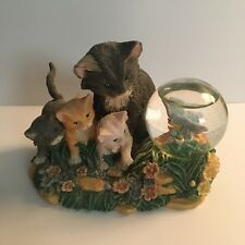 """Pet Tales """"Delightful Discovery"""" Cat Kittens & Butterfly Collectible Snowdome"""