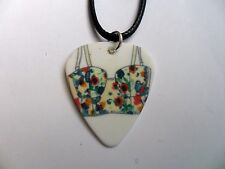 Cute BIKINI Patterned Guitar Pick  //  Plectrum and Leather  Necklace