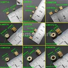 5-20PCS Copper Spur Gear Brass Gears 0.3M 0.4M 0.5M 7T 8T 9T 10T 12T 14T 15T 16T
