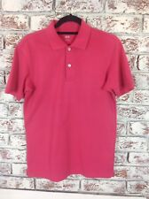 Mens Uniglo Classic Cerise Polo Shirt. Size S. Ex Condition