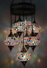 Turkish Mosaic Hanging Chandelier Lamp Hanging Pendant Statement Lighting