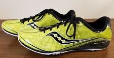 Saucony Flexfilm Shay XC 3 Black and Green Track/Cross Country Shoes Men's 11.5
