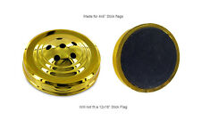 Six Hole  00006000 Gold Weighted Base For Desk Set Table Stick Flags Single Base