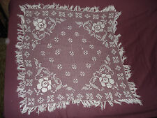 #287 Beautiful Vintage Handmade  Filet Doily  41''/41''(105cm/105cm)