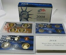 Complete 2008-S US Mint Clad Proof 14 Coin Set w/ Box & COA Item #24854N