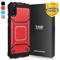 For Samsung Galaxy A10e Phone Case TJS TankMate Metal Aluminum +Tempered Glass
