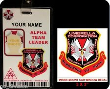 ZOMBIE COLLECTION. UMBCorp. TACTICAL SECURITY INTERVENTION TEAM ID BADGE & DECAL