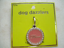 """Dog Dazzlers 1 Piece Collar Charm """"Diva"""" By Hanover Accessories New"""