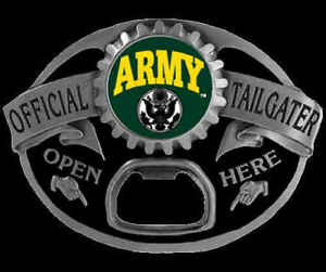 ARMY TAILGATER BOTTLE OPENER BELT BUCKLE NEW