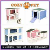Rabbit Hutch by Cozy Pet Guinea Pig Hutches Run Pink & Blue Rabbit Ferret Runs
