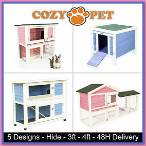 Rabbit Hutch by Cozy Pet Guinea Pig Hutches Run Pink & Blue Rabbit Ferret Runs