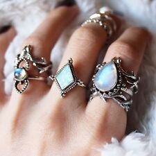 DIXY Sterling Silver Medea Snow Opal Boho Ring ASO Pinterest Size Small RRP £35
