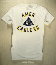 American Eagle Mens Chalk Indian Flocked T Shirt XXL NWT