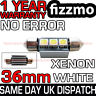 3 SMD LED 36mm 239 272 CANBUS NO ERROR XENON WHITE NUMBER PLATE LIGHT BULB