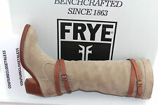 FRYE JANE STRAPPY STONE SUEDE/ VEG TAN #6.5us $399