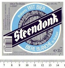 Beer Label - Palm Brewery - Belgium - Steendonk Witbier (version a)