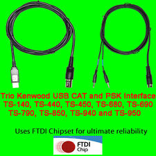 Trio Kenwood USB CAT + PSK31 Cable TS-450, TS-690, TS-790, TS850, TS-950 +more