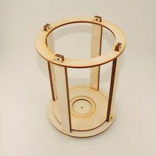 Holz Laterne Bausatz 12 Teile für Folienmalerei, Runde Laterne für Lichterketten