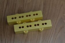 Jazz bass guitar pickup covers by Herrickpickups U.K in Pus Yellow
