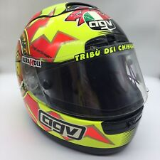 RARE Valentino Rossi MotoGP Signed Helmet + COA AUTOGRAPH  VR46 46 AGV SUN MOON