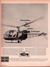 1962 B AD  GARRETT CORP AIRESEARCH DIV  GAS TURBINE HELICOPTER REPUBLIC LARK