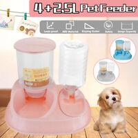 4 + 2.5L Pet Water Dispenser Drinking Bottle Cat Bowls Automatic Food  P Q