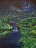 9 x 12 Original Landscape Oil Painting on canvas panel by Jared D.