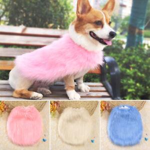 Small Dog Jacket Soft Luxury Fur Puppy Winter Clothes Coat for Corgi Yorkshire