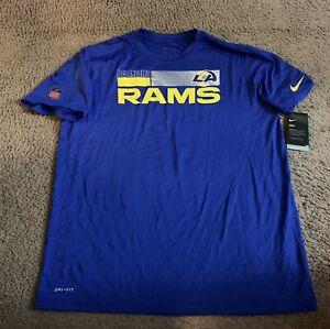 Los Angeles Rams 2020 Nike Sideline Impact Legend Performance Men's T Shirt XL