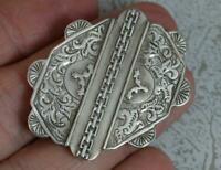 Victorian Aesthetic Movement Sterling Silver Brooch