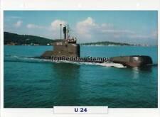 1973 U-BOAT U-24 Type 206 Submarine Ship / Germany Warship Photograph Maxi Card