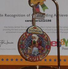 "Jim Shore-""Dated 2011-Hanging Ornament""-4023460-Sa nta Praying over baby Jesus!"