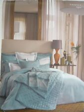 YVES DELORME TRIOMPHE LAGON TWIN DUVET COVER Turquoise  NWT
