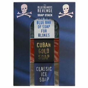 The Bluebeards Revenge Soap Stack - Big Blue Bar, Classic Ice & Cuban Gold