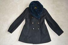 Vivienne Westwood Anglomania Button Black Wool / Faux Fur Coat Jacket IT42 UK10