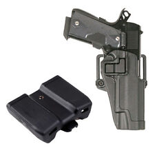 Tactical Holster Right Hand Gun Paddle with Double Magazine Pouch for Colt 1911