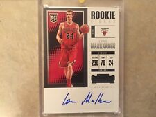 2017-18 PANINI CONTENDERS LAURI MARKKANEN AUTOGRAPHED ROOKIE CARD W/CASE