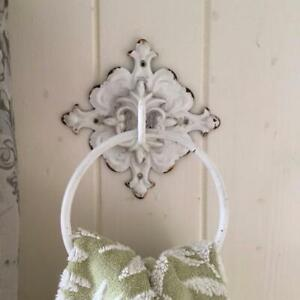 Ornate Vintage French Style Towel Ring Shabby Chateau Chic Bathroom Kitchen