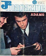 J2 MAGAZINE NUMERO 1 COUVERTURE ADAMO 1967 TRES RARE