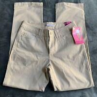LEE Classic Fit Stretch Straight Leg Khaki PANTS WOMENS 6 Short NWT Inseam 29.5